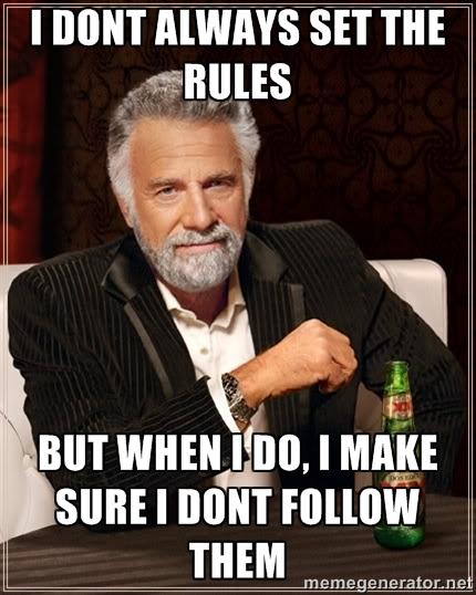 Es importante seguir las reglas